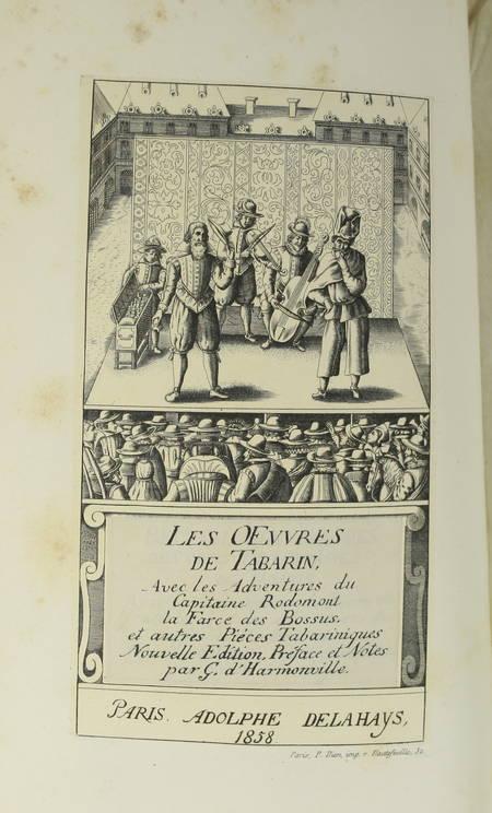 Les oeuvres de Tabarin, avec Les adventures du capitaine Rodomont ... - 1858 - Photo 1, livre rare du XIXe siècle