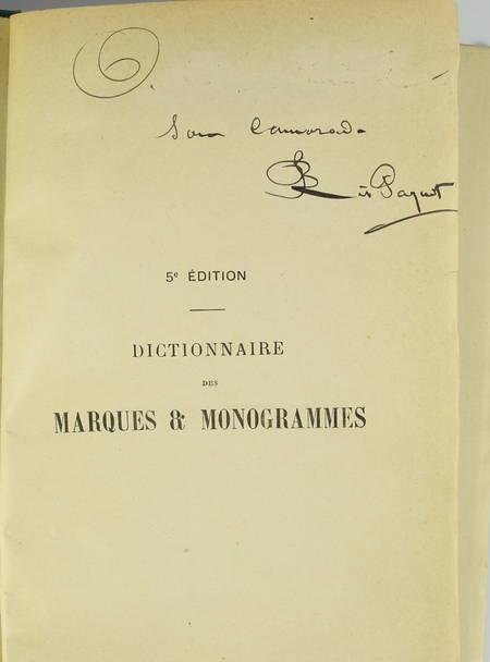 RIS-PAQUOT. Dictionnaire des marques et monogrammes des faïences, grès, ... 1880 - Photo 0 - livre d'occasion