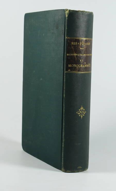 RIS-PAQUOT. Dictionnaire des marques et monogrammes des faïences, grès, ... 1880 - Photo 1 - livre d'occasion