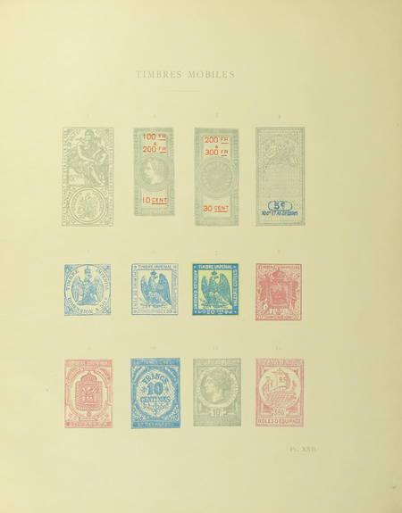 SALEFRANQUE (Léon). Le timbre à travers l'histoire. Etude historique et anecdotique, livre rare du XIXe siècle