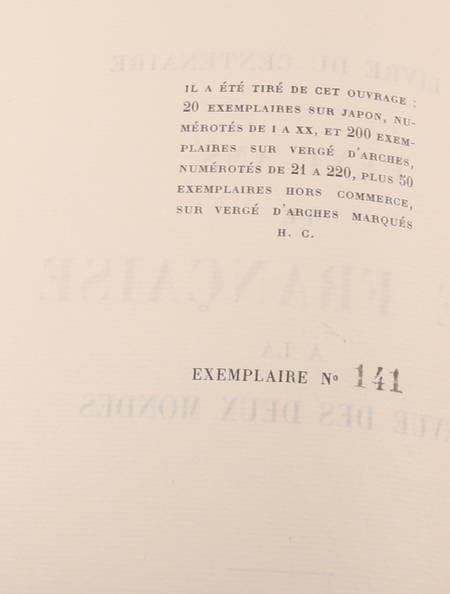 Cent ans de vie française à la Revue des Deux Mondes - 1929 - 10 ENVOIS ! - Photo 2 - livre rare