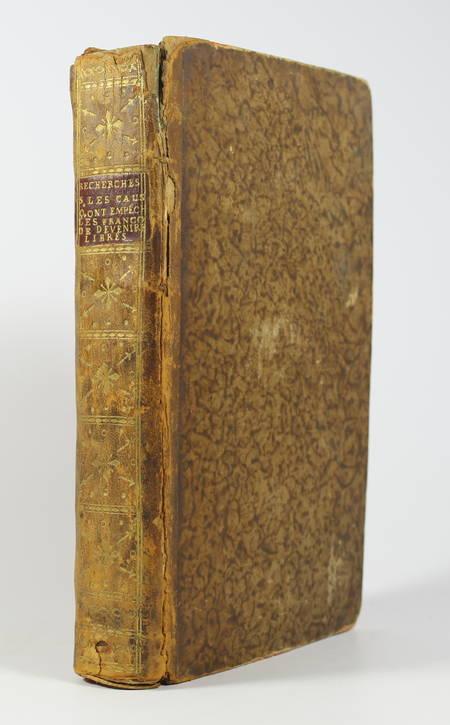 MOUNIER - Causes qui ont émpêché les français de devenir libres - 1792 - Photo 1 - livre rare