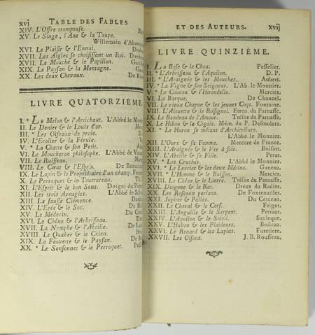Le fablier françois ou élite des meilleurs fables depuis la Fontaine - 1771 - Photo 2 - livre du XVIIIe siècle