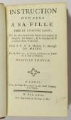 DUPUY - Instruction d un père à sa fille, tirée de l écriture sainte ... - 1763 - Photo 0 - livre de bibliophilie