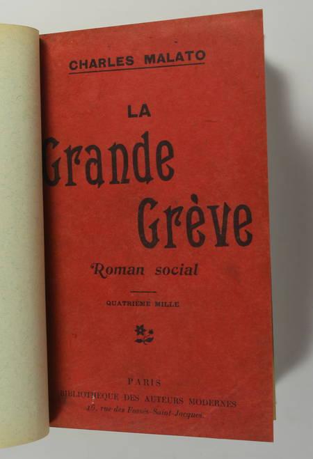 Charles MALATO - La grande grève - 1905 - Roman social - Photo 1 - livre d'occasion