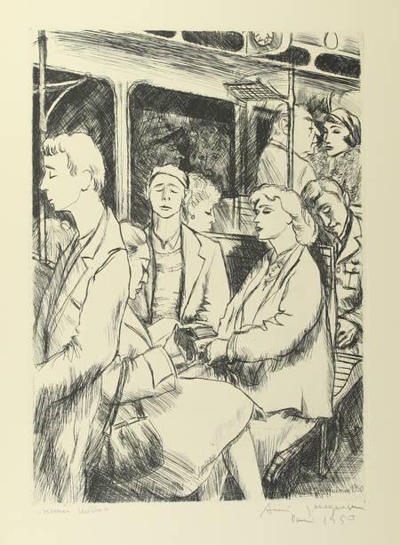 50aire du métro de Paris - 1950 - Dessin original d'André Jacquemin + gravures - Photo 1 - livre de bibliophilie