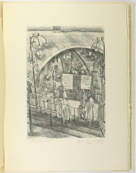 50aire du métro de Paris - 1950 - Dessin original d'André Jacquemin + gravures - Photo 3 - livre de bibliophilie
