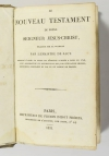 SACI - Nouveau testament - 1831 - Reliure en parchemin du 17e - Photo 1 - livre romantique