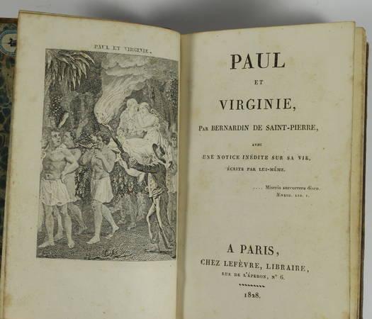 Paul et Virginie par Bernardin de Saint-Pierre avec une notice sur sa vie - 1828 - Photo 1 - livre rare