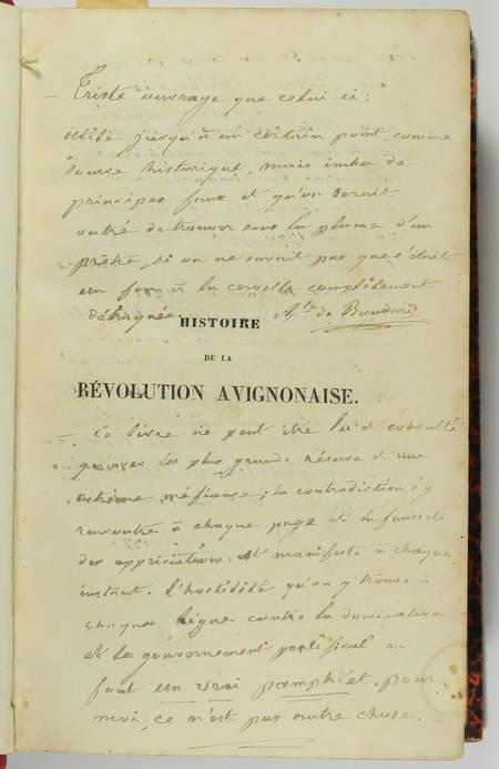 ANDRE - Histoire de la révolution avignonaise - 1844 - Relié - Photo 5 - livre romantique