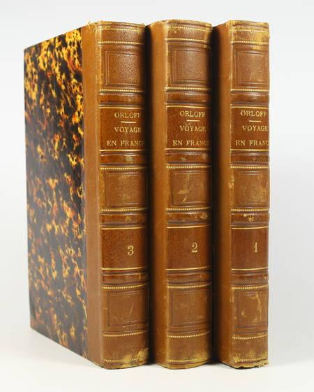 Comte ORLOFF - Voyage dans une partie de la France - 1824 - 3 volumes - Photo 0 - livre romantique