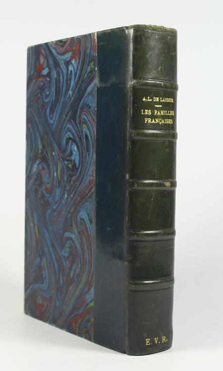 [Noblesse] LAIGUE - Les Familles françaises - 1818 - Origines, ... - Photo 1 - livre rare