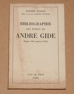 Arnold NAVILLE - Bibliographie des écrits de André Gide - 1949 - Photo 0 - livre de collection