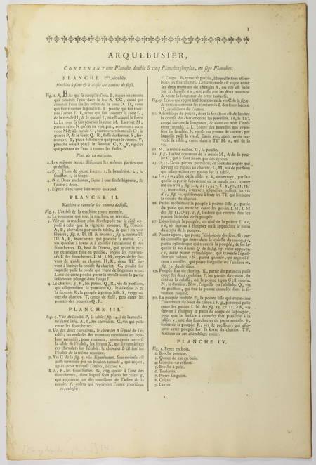 Arquebusier - 1762 [Encyclopédie, planches, gravures, militaria] - Photo 1, livre ancien du XVIIIe siècle