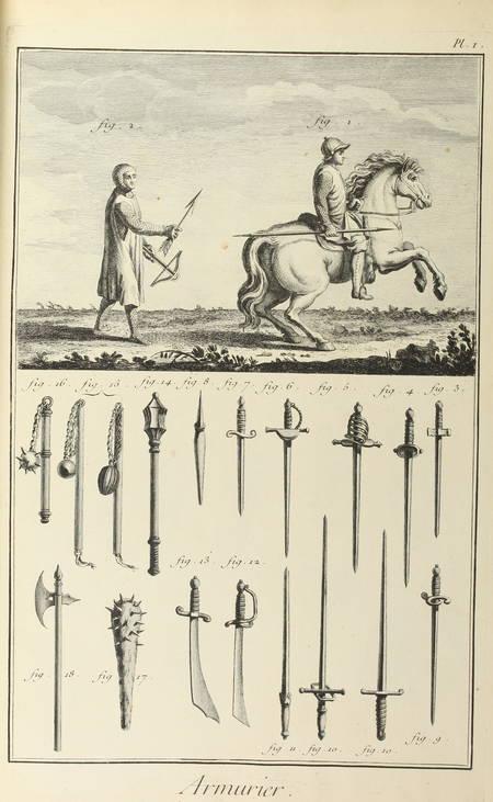 . Armurier [Encyclopédie, Recueil de planches sur les sciences et les arts généraux et les arts méchaniques]