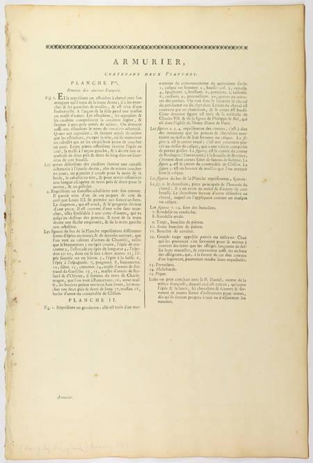 Armurier - 1762 [Encyclopédie, planches, gravures, militaria] - Photo 1 - livre rare