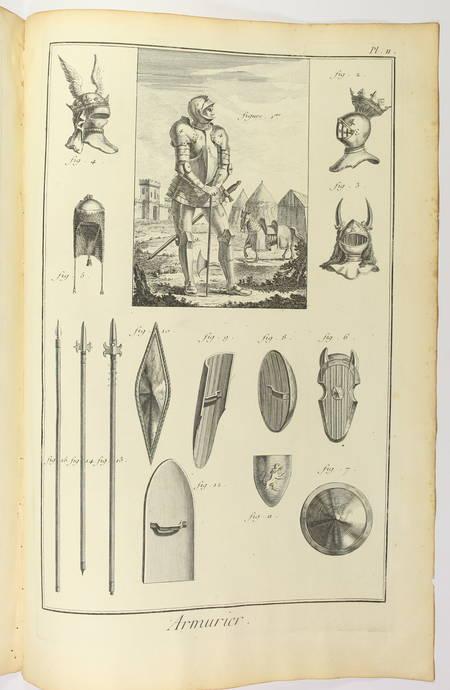 Armurier - 1762 [Encyclopédie, planches, gravures, militaria] - Photo 2 - livre de bibliophilie