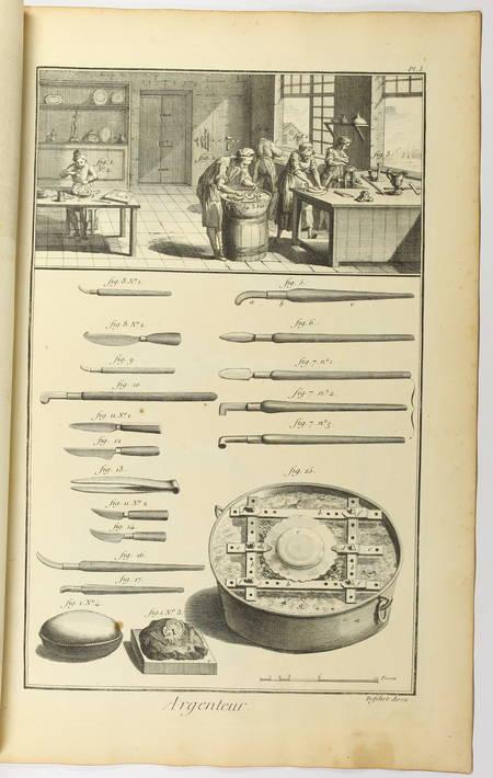 Argenteur - 1762 [Encyclopédie, planches, gravures, métier] - Photo 0 - livre de collection