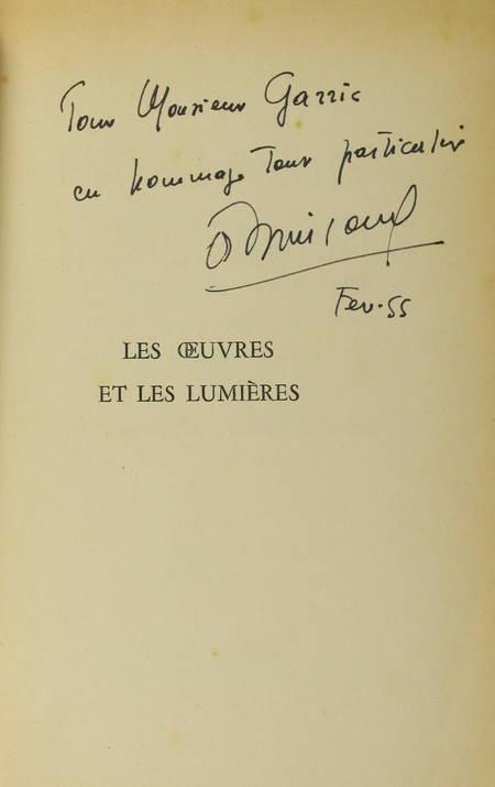 BRINCOURT (André et Jean). Les oeuvres et les lumières, livre rare du XXe siècle
