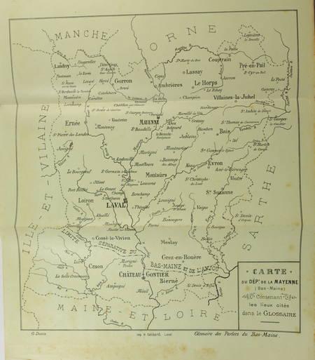 DOTTIN - Glossaire des parlers du Bas-Maine (département de la Mayenne) - 1899 - Photo 1 - livre rare