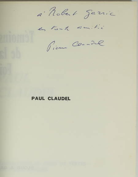 Paul CLAUDEL - 1965 - Envoi de Pierre CLAUDEL - Photo 0 - livre de collection