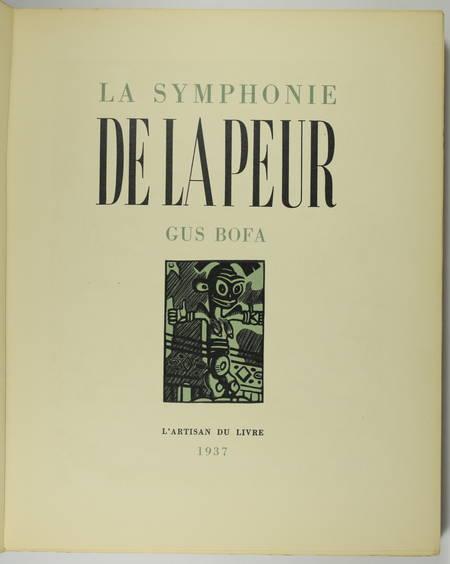 Gus BOFA - La symphonie de la peur - Edition originale - Illustré - Photo 3 - livre rare