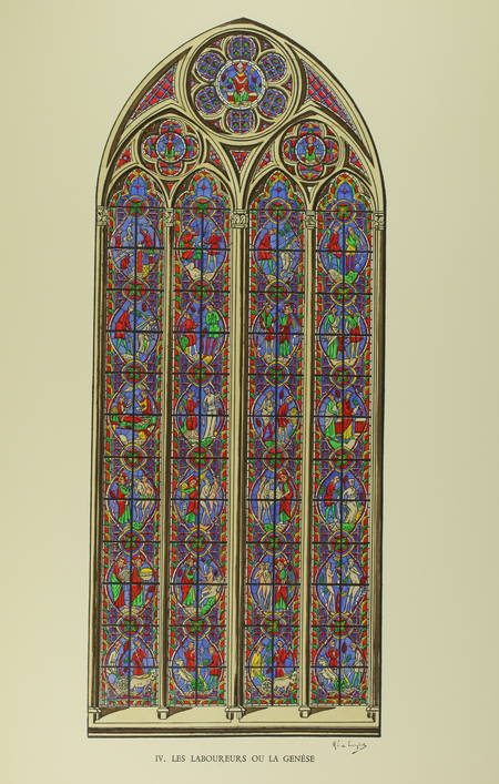 BOISSONNOT (Chanoine H.). Les verrières de la cathédrale de Tours, livre rare du XXe siècle