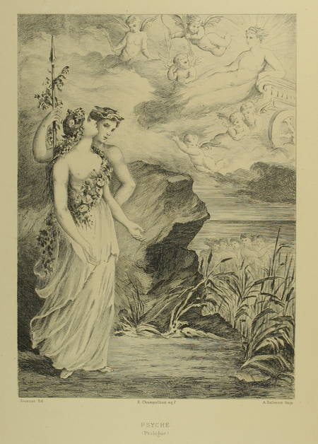 MOLIERE - Psyché, tragédie-Ballet - 1880 - eaux-fortes de Champollion - Photo 0 - livre de bibliophilie