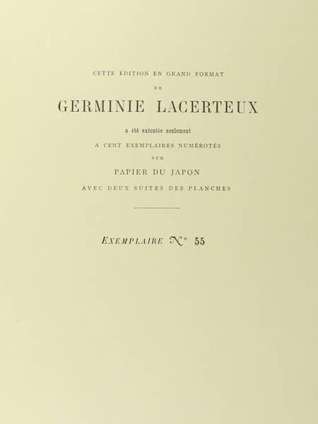 GONCOURT - Germinie Lacerteux 1886 Illustrations de Jeanniot 1/100 Japon - Photo 2 - livre d'occasion