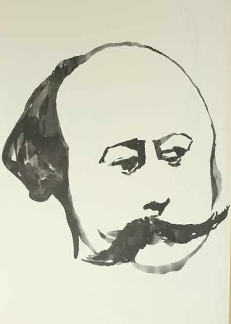 Adam-Tessier - 80 portraits de Flaubert 2002 Gravure originale de Gilles Marrey - Photo 0 - livre moderne