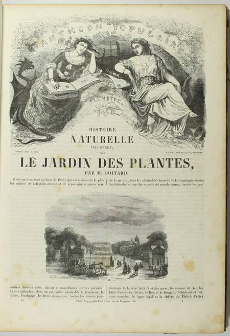 BOITARD - Le jardin des plantes - Mammifères - Barba (1851) - Gravures - Photo 3, livre rare du XIXe siècle