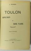 MONGIN - Toulon ancien et ses rues - 1901 - 2 tomes en un volume relié - Photo 1 - livre d occasion