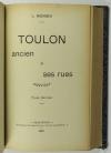 MONGIN - Toulon ancien et ses rues - 1901 - 2 tomes en un volume relié - Photo 3 - livre d occasion