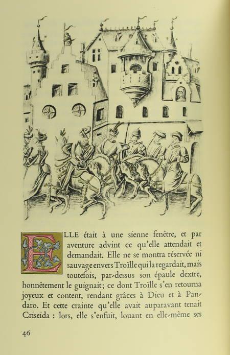 BOCCACE. Troïlle et Criseida. Traduction du poème de Boccace Il Filostrato par le sire de Beauvau, sénéchal d'Anjou [au XVe siècle], présentée par Edmond Pognon