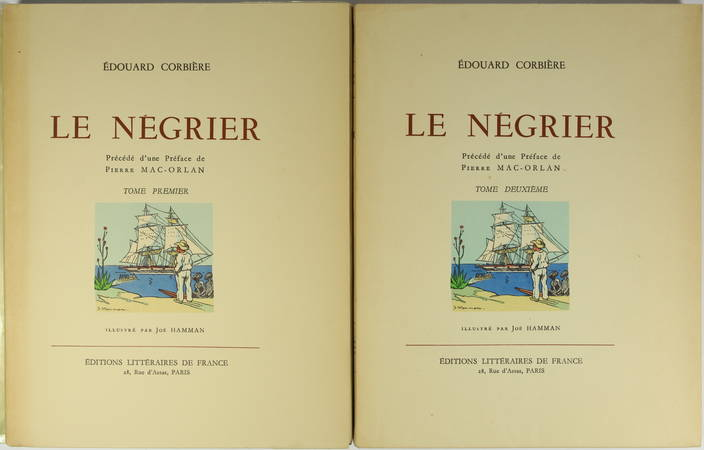 Edouard CORBIERE - Le négrier - Illustrations en couleurs de Joë Hamman - 2 vol. - Photo 2 - livre de collection