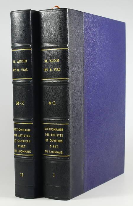 AUDIN et VIAL. Dictionnaire des artistes et ouvriers d'art de la France : Lyonnais, livre rare du XXe siècle