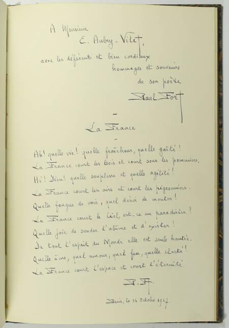 FORT (Paul). Poèmes au Dunois [Relié avec] Toute la France