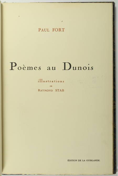 Paul FORT - Poèmes au Dunois + Toute la France - 1920-7 - Envoi + Poème EAS - Photo 3, livre rare du XXe siècle