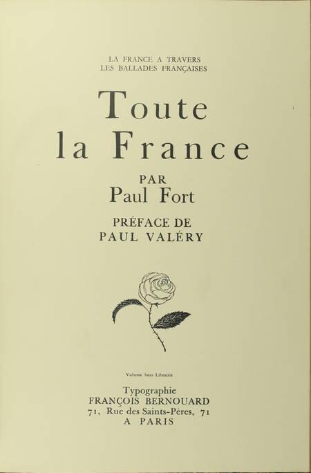 Paul FORT - Poèmes au Dunois + Toute la France - 1920-7 - Envoi + Poème EAS - Photo 4 - livre de bibliophilie