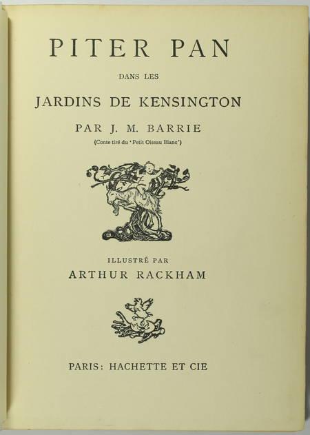 BARRIE - Piter Pan dans les jardins de Kensington - Arthur Rackham (1907) - Photo 2 - livre rare