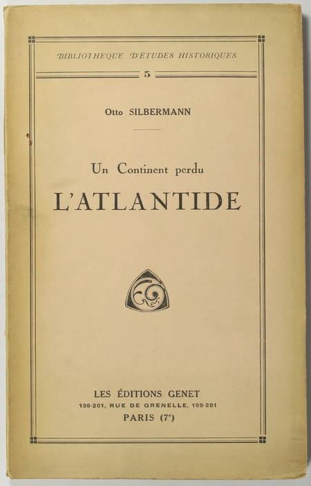 SILBERMANN (Otto). Un continent perdu. L'Atlantide