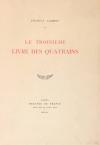Francis JAMMES - Le troisième livre des quatrains - 1924 - EO - Photo 0, livre rare du XXe siècle