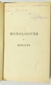 BOUCHER et GALIPAUX - Monologues et récits - 1883 - Dédicace - Photo 0, livre rare du XIXe siècle