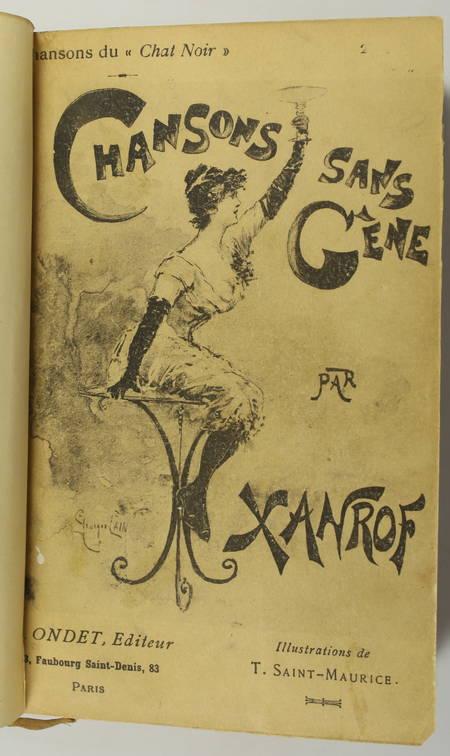 XANROF - Chansons sans-gêne - 1890 - Illustrations - Photo 2, livre rare du XIXe siècle