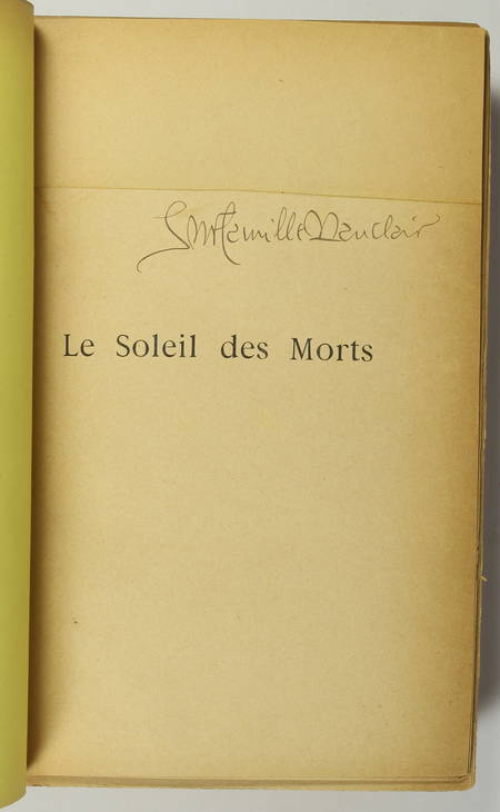 MAUCLAIR (Camille). Le soleil des morts, livre rare du XIXe siècle