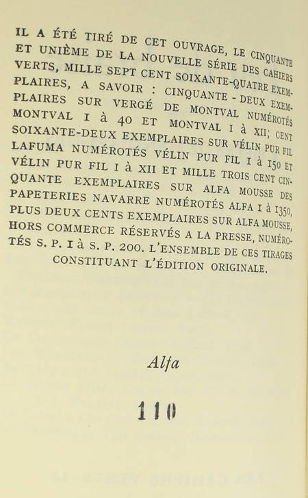 PIEYRE de MANDIARGUES - Feu de braise - 1959 - EO sur Alfa mousse - Photo 0 - livre de collection