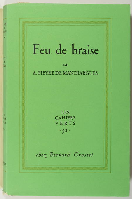 PIEYRE de MANDIARGUES - Feu de braise - 1959 - EO sur Alfa mousse - Photo 1 - livre de collection