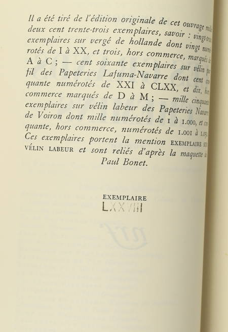 GIONO (Jean). Les grands chemins, livre rare du XXe siècle