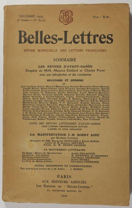 CAILLARD et FOROT - Avant-garde - Revues - Belles lettres - 1924 - Photo 1 - livre du XXe siècle