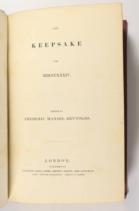 The keepsake - 1834 - Contient une EO de Mary Shelley - Photo 3, livre rare du XIXe siècle